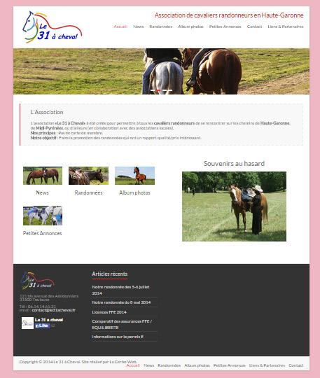 Création de site web pour une association - Cheval - Equitation à Toulouse