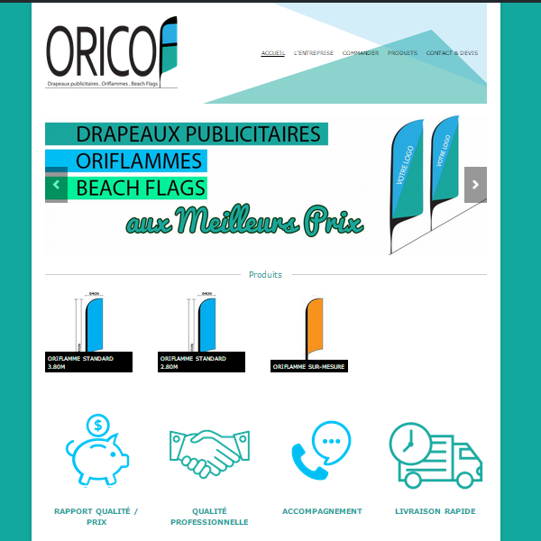 Création de site internet Oricof