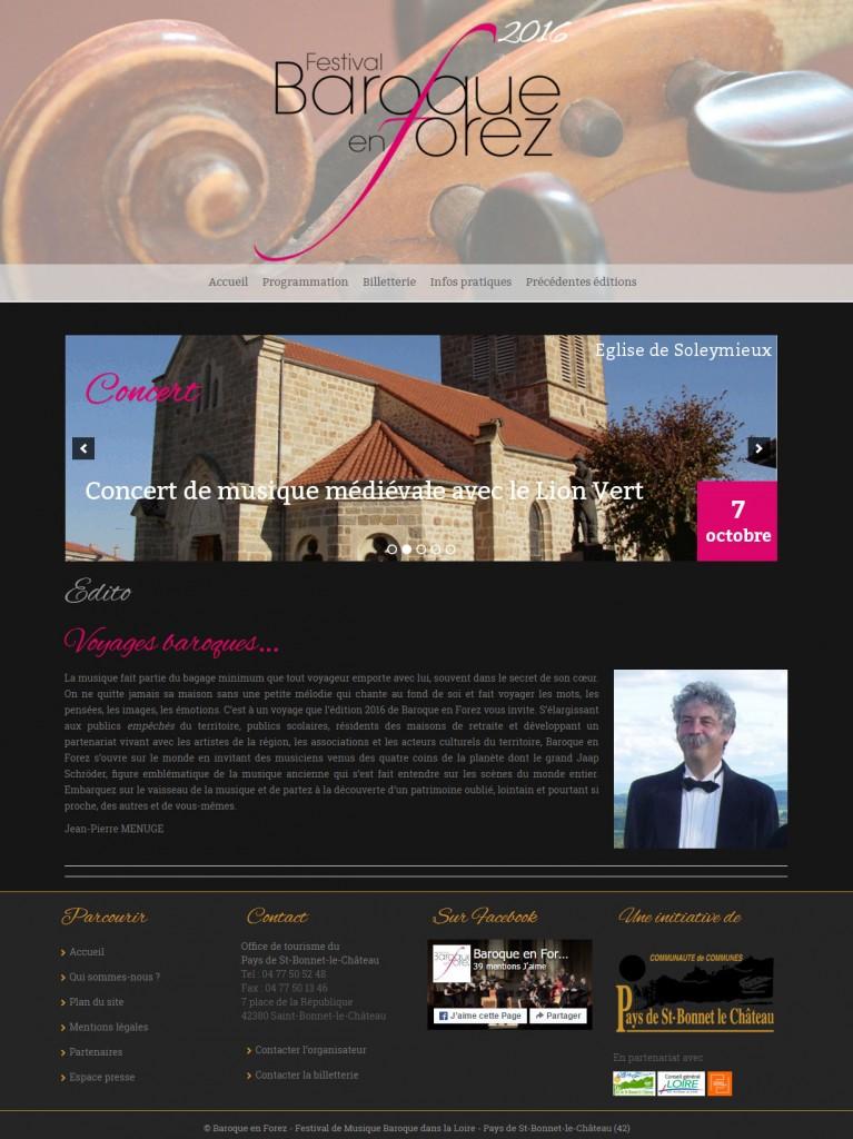 création de site pour festival de musique