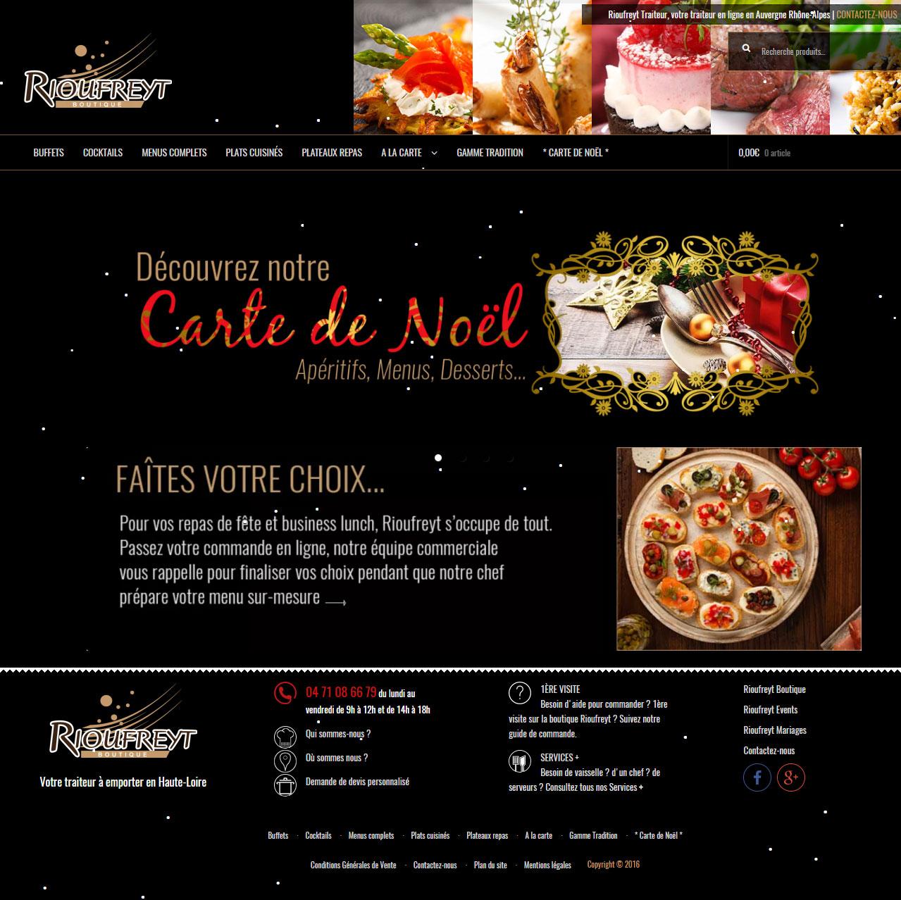 Design Creation Le Puy En Velay conception du site rioufreyt boutique | la cerise web