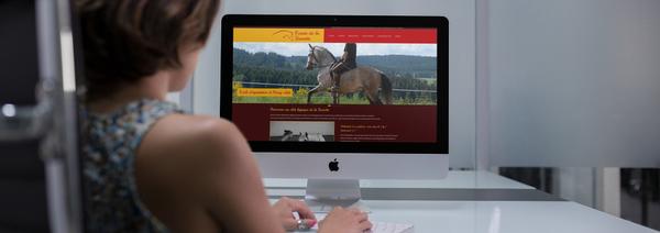 création de site web pour centre équestre en auvergne
