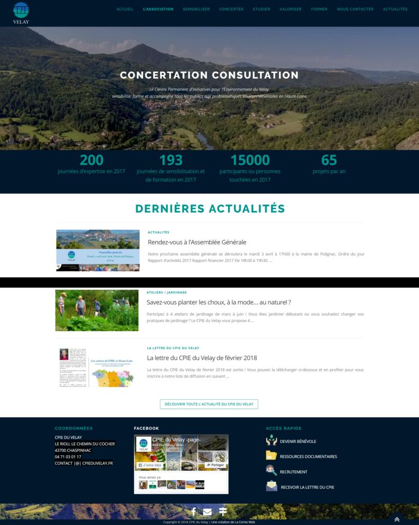 agence de communication chaspinhac création site web pour association en haute loire