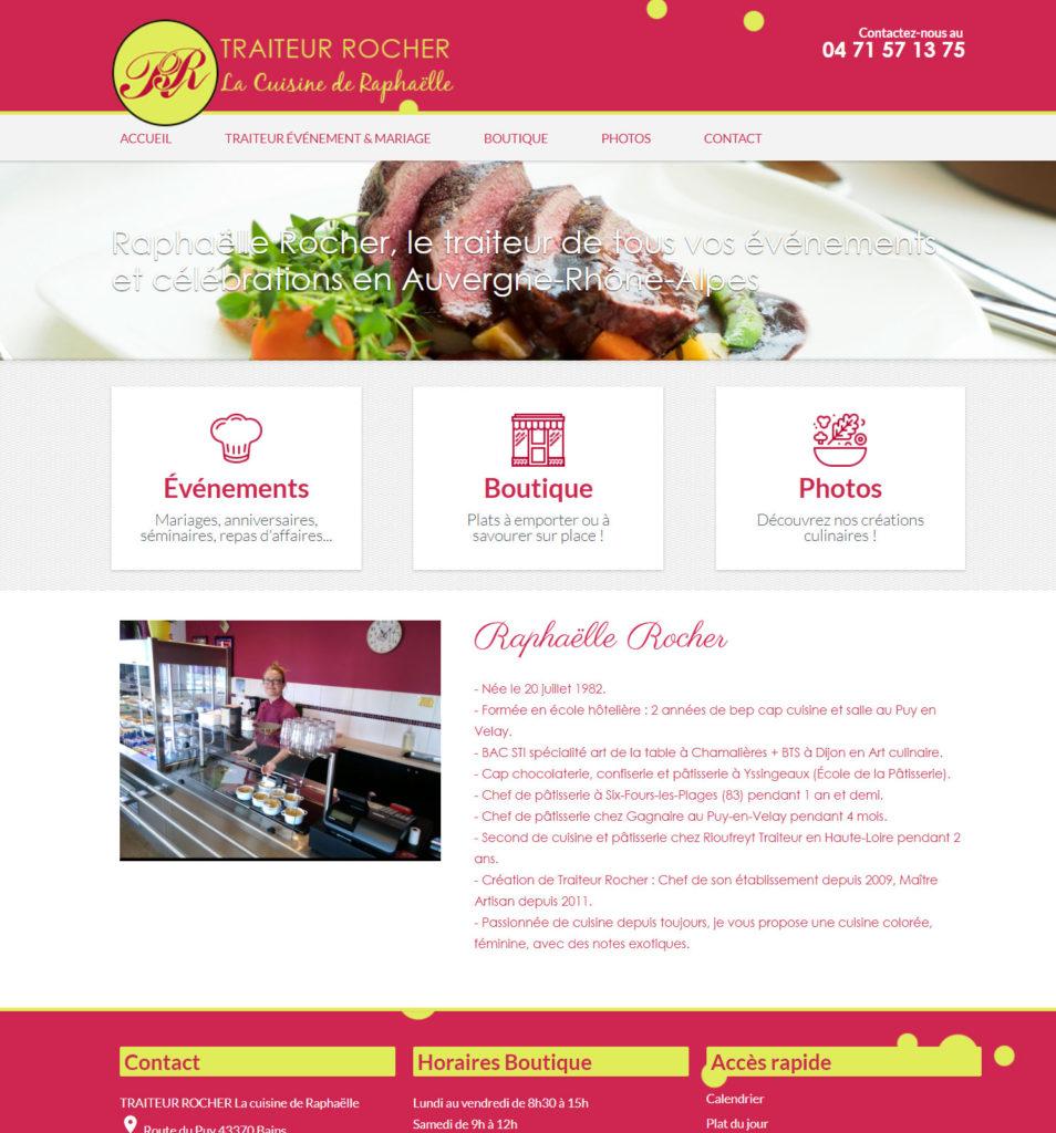 création site internet pour traiteur au puy en velay 43